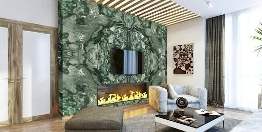Matrix este un granit atrăgător, cu un fundal cenușiu frumos, cu vene învolburate negre. Cu culori neutre, este ușor de amestecat într-o varietate de scheme de decor.